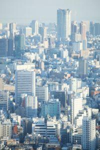 都市の町並み