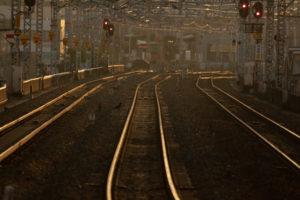 赤信号の鉄道